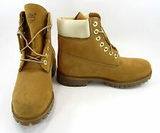 Timberland Boots 6 Inch Premium Wheat/Cream White Shoes Size 8.5