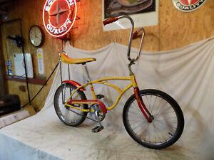 1978 SCHWINN STINGRAY II BOYS BANANA SEAT MUSCLE BICYCLE YELLOW+RED S2 VINTAGE