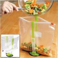 Kitchen Baggy Holder Rack Clip Kitchen Food Storage Bag Hands Free Holder DB
