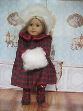 "Handmade 4 piece Samantha cape for American Girl or other 18"" dolls"