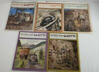 Narrow Gauge And Short Line Gazzette Lot Of 5 1985 Modelbuilding Magazines