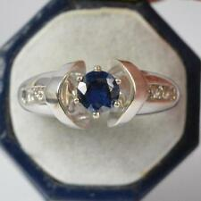14Carat White Gold Round Solitaire with Accents Fine Gemstone Rings