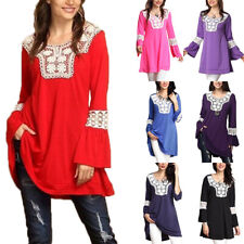 Women Oversized Long Sleeve T-Shirt Ladies Blouse Casual Loose Tops Plus Size