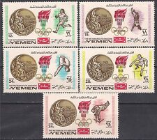 Yemen 1968 MNH 5v, Mexico, Olympics, Sports, Gold Medals, Diving, Long Jump,