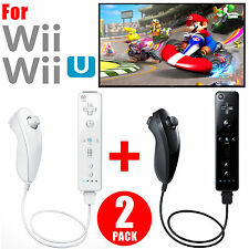 Built-in Motion Plus Remote & Nunchuck Controller For Nintendo Wii Wii U Games