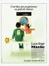 Publicité Advertising 028  1985   lave-linge Miele