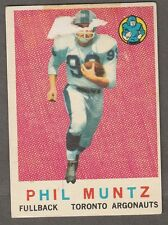 1959 TOPPS CFL PHIL MUNTZ TORONTO ARGONAUTS #65 (TORONTO VARSITY BLUES)