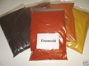 Farbpigmente - Eisenoxid 1 Kg rot ziegelrot  für Beton + Wand