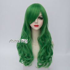 Lolita Mixed Green Long 60CM Curly  Fashion Party Cosplay Wig + Free Cap