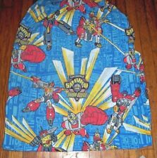 Vintage Transformers Superhuman Samurai Syber-Squad Twin Fitted Sheet