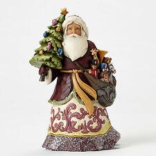 Enesco Jim Shore HWC Victorian Santa with Tree NIB Item # 4053682