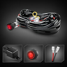 LED Light Bar Wiring Harness Kit 12V Fuse Relay ON/OFF Waterproof Switch -2 Lead