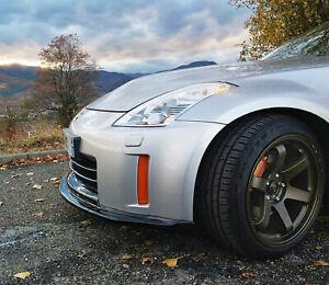 Mines / Veilside Style Lip / Splitter to fit Nissan 350z Z33 Fairlady bumper v8