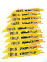 New 10 Pcs Dewalt 18 Tpi Bi-metal Sawzall Reciprocating Saw Blades-Free Shipping