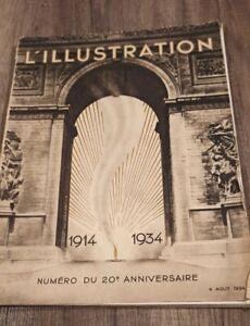 Journal l'illustration - NP_ 20eme anniverssaire 1914-1934