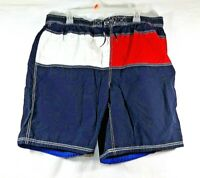 VINTAGE Tommy Hilfiger Swim Trunks Adult XXL Big Flag Crest Bathing Suit Mens