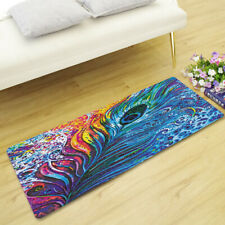 Gorgeous Peacock Feathers Home Decor Rectangle Area Rug Floor Door Mat Xmas Gift