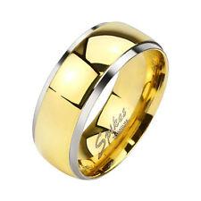 Damen Herren Ring Titan Damenring Partnerringe Titanringe in Gold Silber Ringe