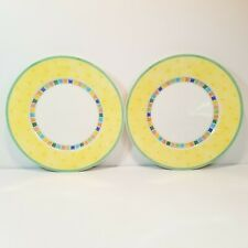 Villeroy & Boch Twist Alea Limone Salad Plate Pair Yellow Multi Color -W
