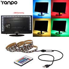 3FT 5V USB LED Strip Light RGB 5050 SMD Bulb Lamp PC Back Lighting + Controller