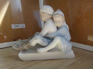 Bing Grondahl figurine # 1737 Two children on a sledge