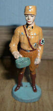 rare prewar ELASTOLIN standing german SA soldier brown uniform eating - WWII