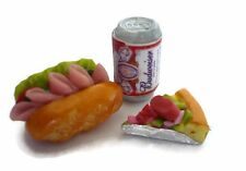 Subway Pizza Beer Can Dollhouse Miniatures Bakery Fast Food