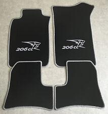 PEUGEOT 206cc Deluxe Su Misura Qualità Tappetini Auto 2001-2007 Cabrio