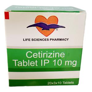 600 Cetirizine Hydrochloride tablets - 10mg generic Zyrtec - SAME DAY SHIP