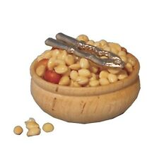 Dolls House Miniature 1/12th Scale Christmas Bowl of Nuts and Cracker D2343