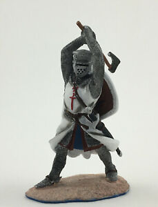 Painted CRUSADERS Knight of the Order of the Sword Metal Tin Figure 1/32