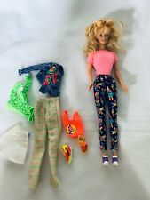 Mattel Blonde Hair Barbie in Leggings with extra clothing Lot