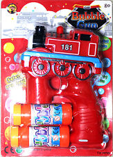 RED TRAIN Bubble Gun Blower Blaster with Flashing LED Lights & Music 2 Refill