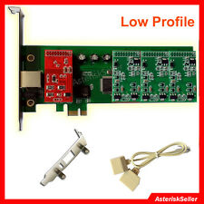 with Low Profile,3FXS+1 FXO Card,Support Freepbx Elastix,PCI-E FXO asterisk Card