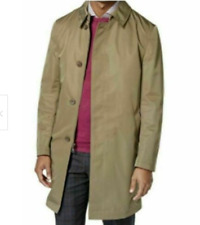 Calvin Klein Mens Rain Trench Coat Olive Green Jacket Extra Slim Fit Sz 44L NWT