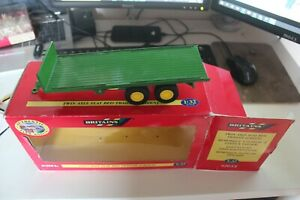 Britains Farm Models 1:32 scale - 42015 - Twin Axle Flat Bed Trailer Green