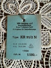 ORIGINAL SIMSON KR 51/2 N Preisanhänger Reklame werbung IFA 1590 Mark ECHT DDR