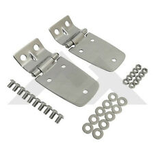 Hood Hinges Stainless For Jeep Wrangler Tj 1997 2006 Rough Trail Rt34057 Fits 1997 Jeep Wrangler