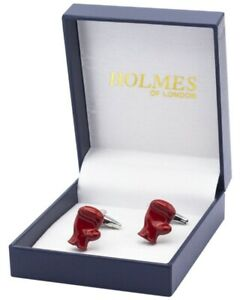 CUFFLINKS RED BOXING GLOVES GLOVE FIGHTER BOXER CHAMP CUFF LINKS NEW UK FREE PO