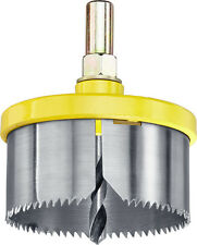 Holesaw With Arbor 65mm Cuts Wood Worktop Plastics Plasterboard Downlighters