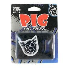 "PIG Pile Pro Skateboard Skate RISERS Hard Black 1/8"" PASTIGLIE NUOVE"