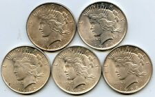 Set of 5 - 1922 $1 Silver Peace Dollars. Uncirculated. Lot#2673