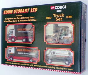 Corgi TY99108 - Eddie Stobart Truck Set - Van Lorry Fork Lift Mercedes