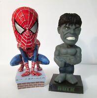 Spider-Man NECA Head Knocker & Hulk Funko Wacky Wobbler Bobble Head Figure