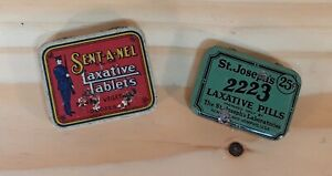 Vintage Laxative Tablet Tins.