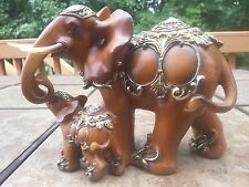 """Chinese Feng Shui Elephant Statue Lucky Wealth Figurine Gift & Home 6""""5 H x 9""""L"""