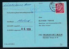 87094) OWL   Herford, Landpost Ra2 21a Sundern über, Fa-Karte 1959