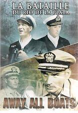 """DVD """"La bataille du rio de la plata""""+ """"away all boats""""     NEUF SOUS BLISTER"""