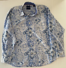 Tommy Bahama shirt Size XL(W25in L30in)Collared Button Up Blue Floral Pattern