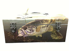 Metal Tool or Tackle Box Decor Fish New with Tags Saintly Must See